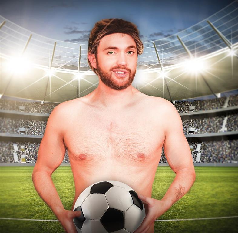 Nackter Fußballer