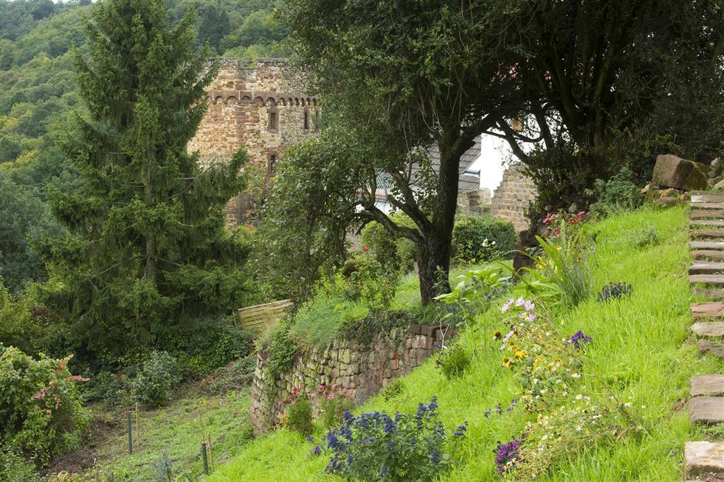 Burggarten Garten mit Sicht auf Diebsturm