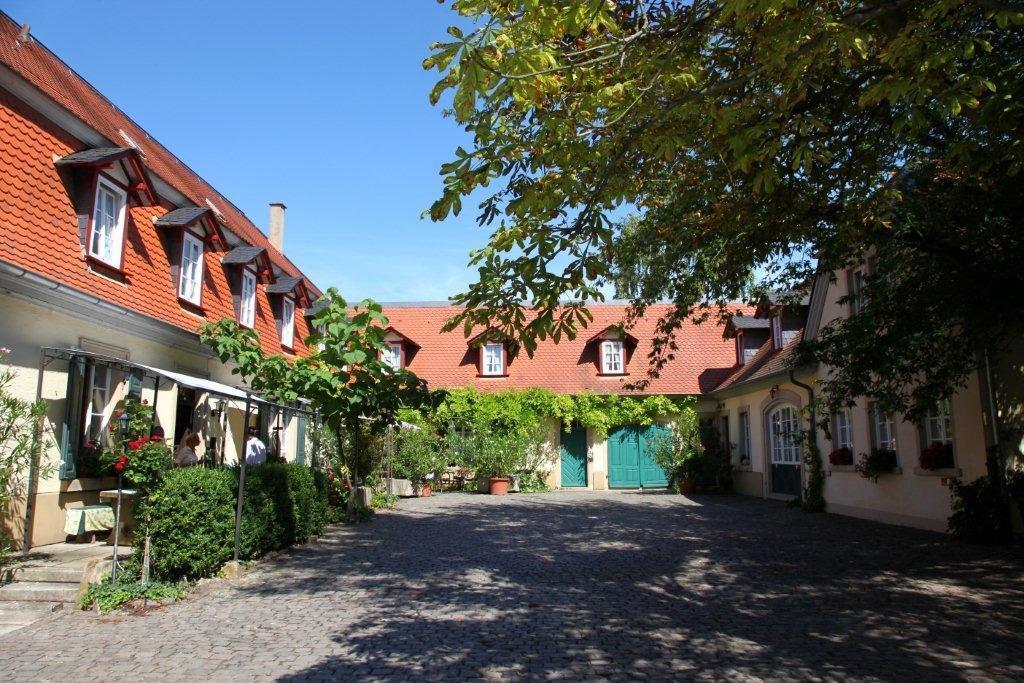 Altes Landhaus - Innenhof mit Zugang zum Garten